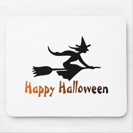 Happy Halloween Witch Mouse Pad