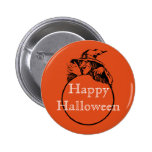 Happy Halloween Witch Pinback Button