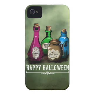 Happy Halloween! Witch Potion Bottles Case-Mate iPhone 4 Case