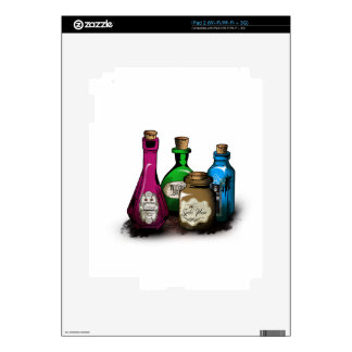 Happy Halloween! Witch Potion Bottles iPad 2 Decal