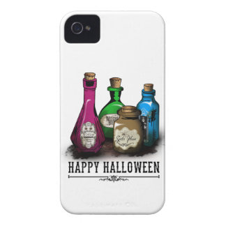Happy Halloween! Witch Potion Bottles iPhone 4 Case