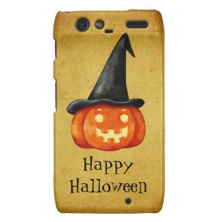 Happy Halloween Witch Pumpkin Motorola Droid RAZR Covers