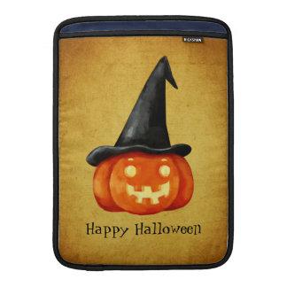 Happy Halloween Witch Pumpkin MacBook Sleeve