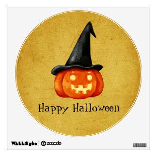 Happy Halloween Witch Pumpkin Wall Sticker