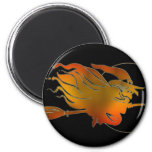 Happy Halloween Witch Refrigerator Magnet