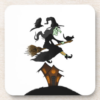 Happy halloween! Witch Riding to Broomstick Coaster