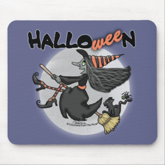 Happy HalloWEEn-Witch Says Wee Mouse Pad