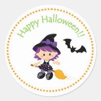 Happy Halloween Witch Sticker