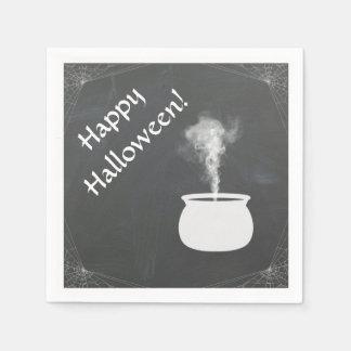 Happy Halloween Witches Cauldren Party Napkin