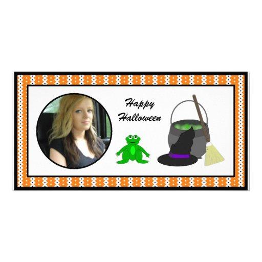 Happy Halloween Witch's Cauldron  Photo Cards