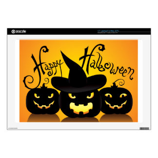 Happy Halloween Witchy Poo Laptop Skins