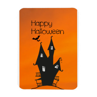 Happy Halloween with a Haunted Witches House Magnet