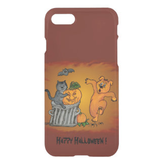 Happy Halloween with Cat Bat Dog and Spider iPhone 8/7 Case