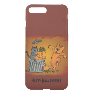 Happy Halloween with Cat Bat Dog and Spider iPhone 8 Plus/7 Plus Case