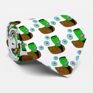 Happy Halloween with Frankenstein Duckie Neck Tie