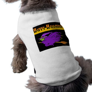 Happy Halloween with Purple Witch T-Shirt