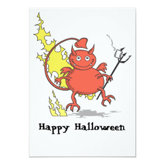 Happy Halloween with Seymour the Little Red Devil Card
