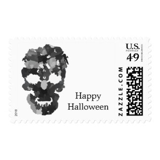 Happy Halloween with Skull Stamp