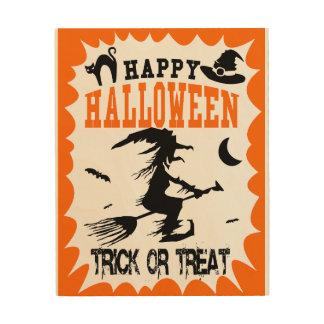 Happy Halloween! Wood Print