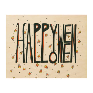 Happy Halloween Wood Wall Art