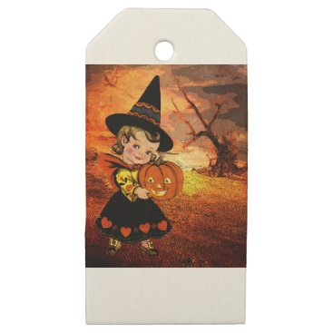 Halloween Themed HAPPY HALLOWEEN WOODEN GIFT TAGS