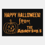 Happy Halloween Yard Sign