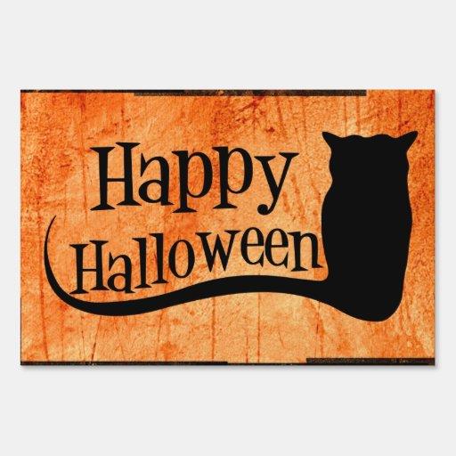 Happy Halloween Yard Sign   Zazzle