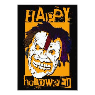 happy halloween zombie card