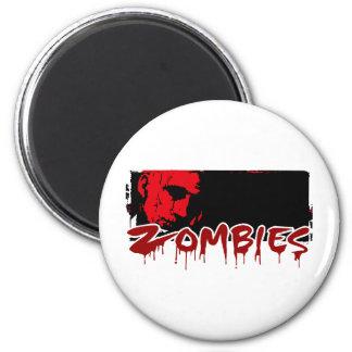 Happy Halloween, Zombies 2 Inch Round Magnet