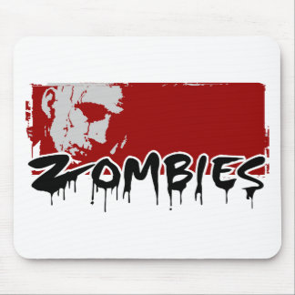 Happy Halloween, Zombies Mouse Pad