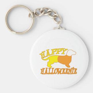 Happy Halloweenie Basic Round Button Keychain