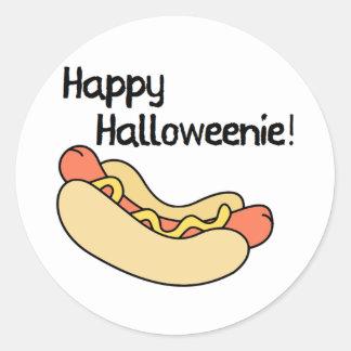 Happy Halloweenie! Classic Round Sticker