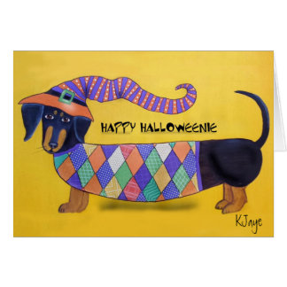 Happy Halloweenie - Funny Halloween Dachshund Card