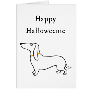 Happy Halloweenie Halloween dachshund Greeting Car Card