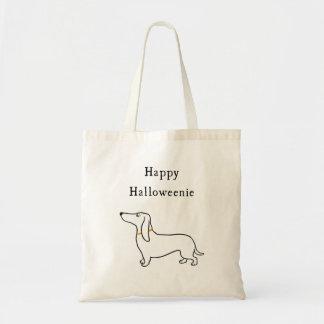 Happy Halloweenie Halloween dachshund Tote Bag