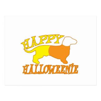 Happy Halloweenie Postcard