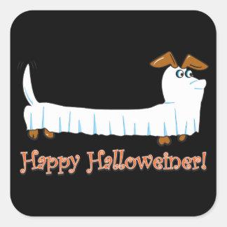 Happy Halloweiner Dachshund Square Sticker