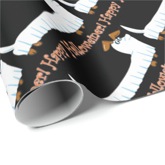 Happy Halloweiner Dachshund Wrapping Paper