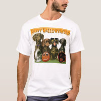 Happy Halloweiners - Dachshund Halloween T-shirt