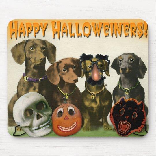 Happy Halloweiners Mousepad