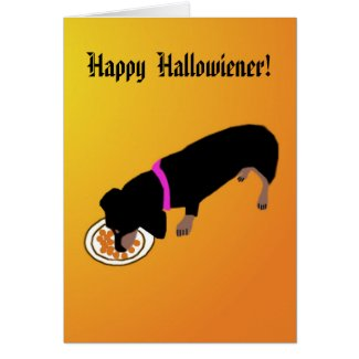 Happy Hallowiener Card