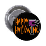 Happy Hallowine Buttons
