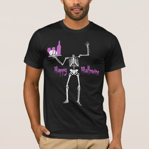 Happy Hallowine Headless Skeleton T-Shirt