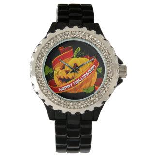 Happy Haloween 6 & Numeral Options Wristwatch