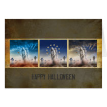 mood, chick, scary, mystic, halloween, scarry, happy halloween, eerie, trick or treat, haloween, dark, weird, fantasy, Card with custom graphic design