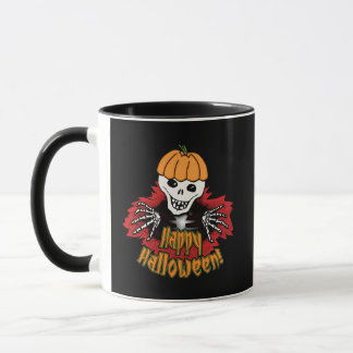 Happy Haloween Skeleton Mug