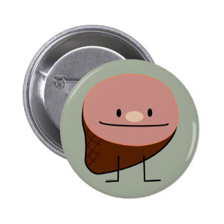 Happy Ham Meat Food Button