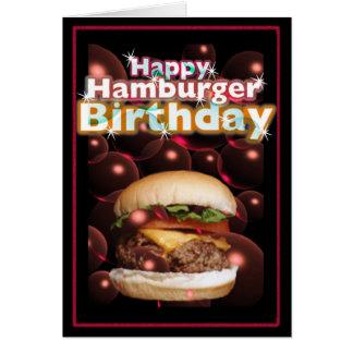 Happy Hamburger Birthday by Valxart Card