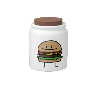 Happy Hamburger Candy Dish