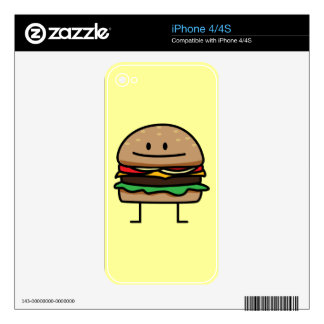 Happy Hamburger Decal For The iPhone 4S